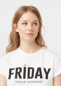 Message t-shirt -  Women | MANGO USA