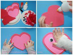 dekoracja dla dzieci na walentynki, kreatywne sowy dla dzieci na walentynki