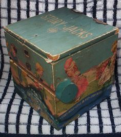 Reserved For Paulette. 1930's/1940's Jack-in-the-box. Wooden Spear Story-jacks…
