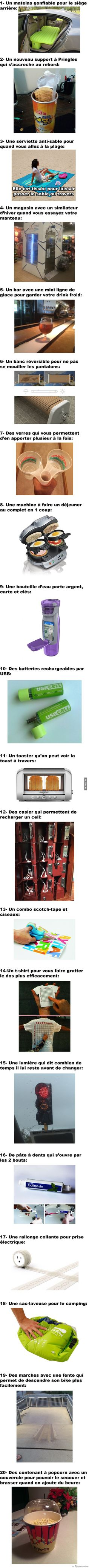 20 Inventions qui vont totalement changer votre vie... sérieusement on a trop besoin de ÇA: Real Facts, Cool Inventions, Useful Life Hacks, Positive Attitude, Best Memes, Funny Cute, Good To Know, Geek Stuff, Jokes