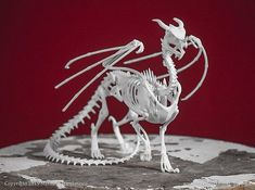 Etsy MythicArticulations: Dragon Skeleton 3D Print Taxidermy Sculpture #3dprintingprojects