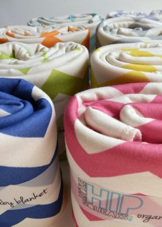Childrens Bedding, Chevron Blanket, Choose Your Color, Soft Organic Cotton, Bedspread for Kids. $68.80, via Etsy.
