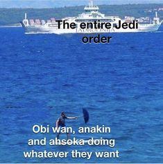 Star Wars Witze, Star Wars Jokes, Star Trek Meme, Stupid Funny Memes, Funny Relatable Memes, Reylo, Prequel Memes, She Wolf, Clone Trooper