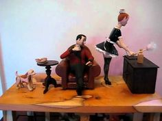 The french maid automata - YouTube