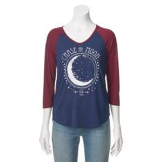 "Juniors' ""Chase The Moon"" Baseball Graphic Tee"