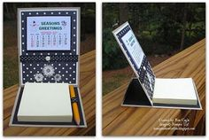 Easel Post It Notes | Stamp and Sew For Fun - Calendar Post-It Note Easel Cards. Stampin' Up ...