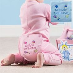 Long johns from Personal Creations - Find all kinds of Baby's First Easter Gift Ideas!
