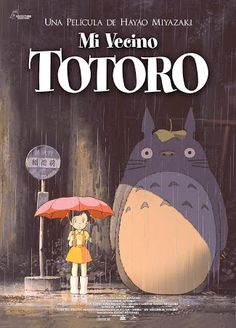 """My Neighbor Totoro"" (Japan) - an animation film by Hayao Miyazaki. Studio Ghibli Poster, Studio Ghibli Movies, Hayao Miyazaki, My Neighbor Totoro Movie, Totoro Poster, Anime Stickers, Art Anime, Cinema Posters, Kid Movies"