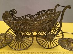 ANTIQUE 19th c MINIATURE GERMAN FILIGREE DOLL PRAM CARRIAGE STROLLER W/ADDITIONS | Dolls & Bears, Dolls, Clothes & Accessories | eBay!