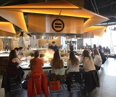 Students enjoy a meal at Origami, a Japanese steakhouse inside Turner Place at Lavery Hall, which opened in fall 2012.