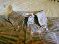 Mens Ivy League Twill Button Down Shirt Sz L by IkouBoh on Etsy