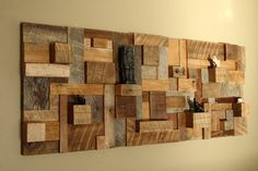 Reclaimed wood wall art 48x19x35 made of by CarpenterCraig on Etsy, $440.00