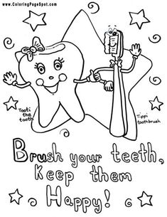 teeth coloring pages | ... for Kids Printable Colouring/Coloring ...