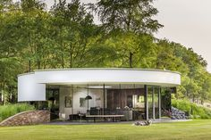 Modern round house was designed with dogs in mind - Curbed