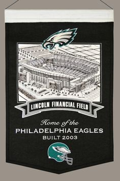 Philadelphia Eagles Banner Wool Stadium Lincoln Financial Field
