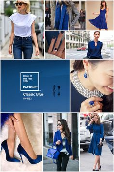 Cor do Ano Pantone 2020 - 2020 Fashions Woman's and Man's Trends 2020 Jewelry trends New York Fashion, Blue Fashion, Look Fashion, Classic Fashion, Blue Colour Palette, Blue Color Schemes, Pantone Colour Palettes, Pantone Color, 2020 Fashion Trends