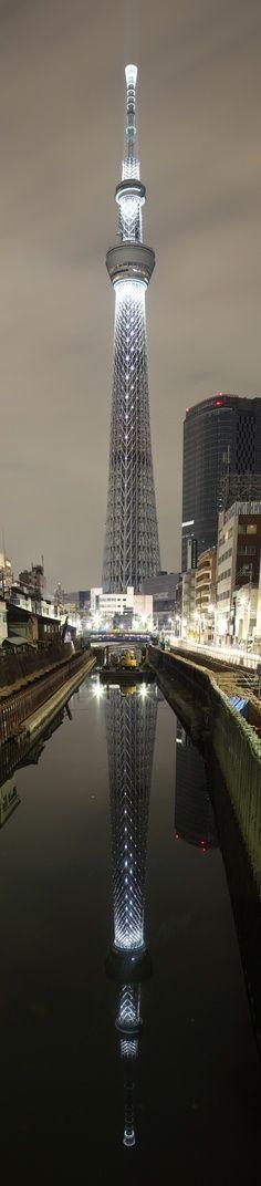 Tokyo Sky Tree é a maior torre de tv do mundo, com 634 metros.