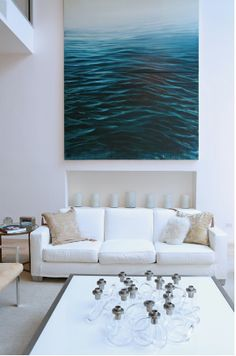artwork. living room of betsy morgan's townhouse. via betsy.com