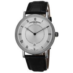 Frederique Constant Men's FC-306MC4S36 'Slim Line' Dial Black Strap Watch