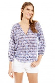 LUCY VOILE TOP BAOBAB