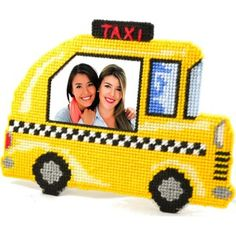 taxi plastic canvas pattern