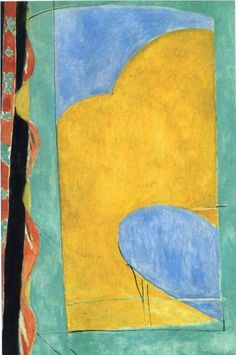 Henri Matisse (1869 - 1954) | Abstract Art | The Yellow Curtain - 1915