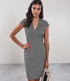 6dd41812ab2f Reiss Alber Dress Cap Sleeved Tailored Grey - 10 Suits For Women, Women  Wear,