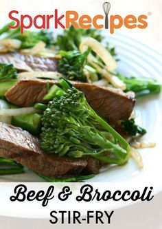 Better Beef and Broccoli. I added mushrooms and water chestnuts, used Splenda blend brown sugar, low sodium soy sauce, fresh grated ginger and half cup brown rice. Great!  via @SparkPeople #beef #broccoli #recipe #healthyrecipe #healthycooking