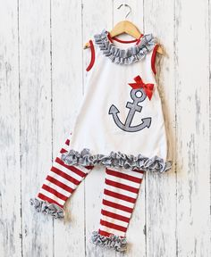 Outfit of the Month-April:  Snag this adorable Anchor Capri set for just $11.70!