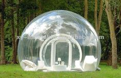 inflatable tent, imagine laying in this while its raining!