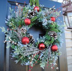 Christmas Wreath Holiday Wreath Xmas Wreath by Casabellawreaths, $65.00