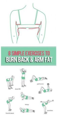 Warmer weather means tank tops and swimsuits. In other words, it's time to bare your shoulders, arms and back. Use these tips and workout to get rid of flabby arms and back fat. Three key ele… healthy Diet Tips Fitness Workouts, Fitness Motivation, Easy Workouts, At Home Workouts, Arm And Back Workouts, Arm Workouts Women, Weight Workouts, Workout Women, Flabby Arms