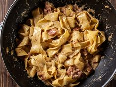 Italian Recipes Recipe Pappardelle with Prosciutto and Parmesan Cream – The Recipe Club Pappardelle Pasta, Penne, Rigatoni, Clean Eating Snacks, Healthy Eating, Pot Pasta, Food Club, Cooking Recipes, Italian Recipes