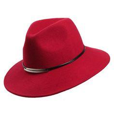 ce2c67f2b3d China Custom Hats Wholesale Hats Red Wool Felt Hat Women Men Fedora Hat  Manufacturers and Factory - OEM ODM Wholesale