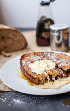 french toast + caramelized banana & bacon