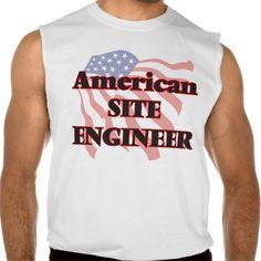 American Site Engineer Sleeveless T Shirt, Hoodie Sweatshirt