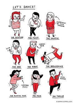 Let's dance by Gemma Correll @Sam McHardy McHardy McHardy Taylor Carver