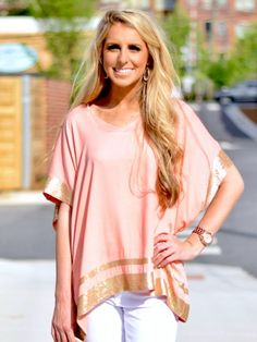 Paradise Top in Peach - $38.99 : FashionCupcake, Designer Clothing, Accessories, and Gifts