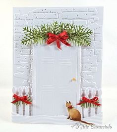 Grand Madison Door with pine bough topper