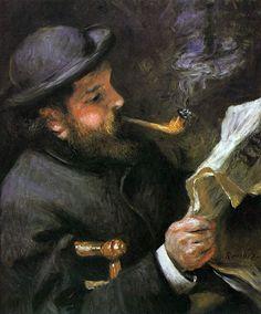 Claude Monet Reading by Pierre-Auguste Renoir • 1872 • oil on canvas • Musée Marmottan, Paris, France