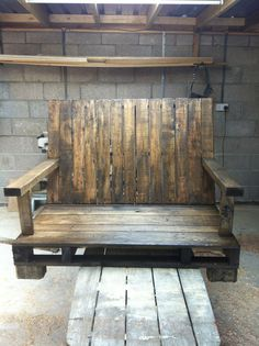 Rustic Patio Chair by rosaandrosa on Etsy,