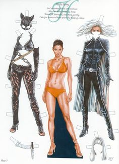 Halle Berry paper doll by Bruce Patrick Jones