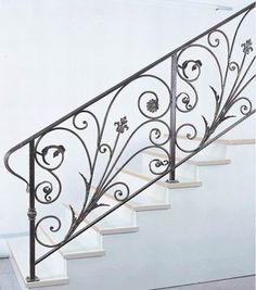 simple wrought iron stairway - Google Search