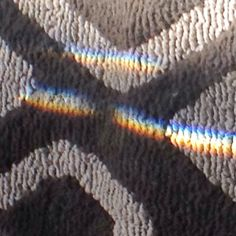 This is a shot of the rainbow on the floor from the beveled glass hanging on the window, isn't it beautiful?