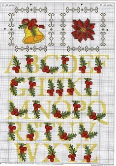 Image result for mini cross stitch jingle bell pattern