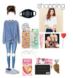 """""""《Shopping》"""" by christina-of-silv3r ❤ liked on Polyvore featuring Calvin Klein Underwear, Gap, Yves Saint Laurent, Bloomingdale's, Casetify, Charlotte Russe, Lano, Hello Kitty, Tiffany & Co. and MYVL"""