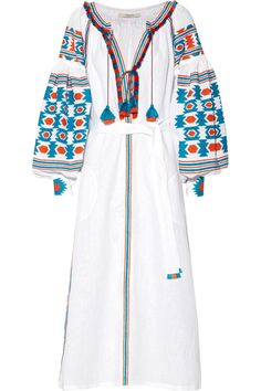 Vita Kin|Embroidered linen dress|NET-A-PORTER.COM at 2,000 US dollars Sold Out, amazing. for a beach cover-up.