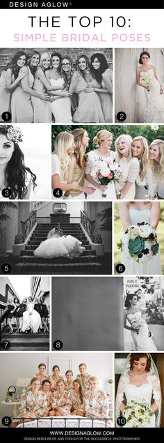 The Top 10: Simple Bridal Poses #designaglow