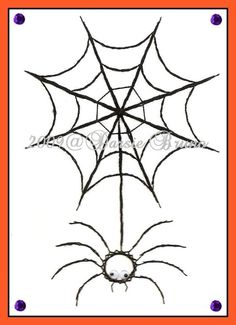 Itsy Bitsy Spider Web Halloween Paper Embroidery Pattern by Darse, $1.50