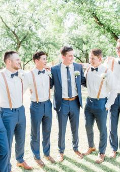 Wedding Florist Questions Summer Arizona wedding at The Farm at South Mountain. Garden style floral designs with soft palette colors of blush and ivory, and eucalyptus greenery by Array Design, Phoenix, Arizona. Groomsmen Attire Navy, Groomsmen Proposal, Bridesmaids And Groomsmen, Groom Outfit, Groomsmen Suspenders, Grooms Men Attire, Rustic Groomsmen Attire, Country Wedding Groomsmen, Mismatched Groomsmen
